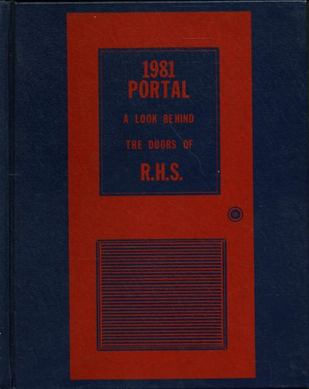 1981 Richland High School Yearbook Cover