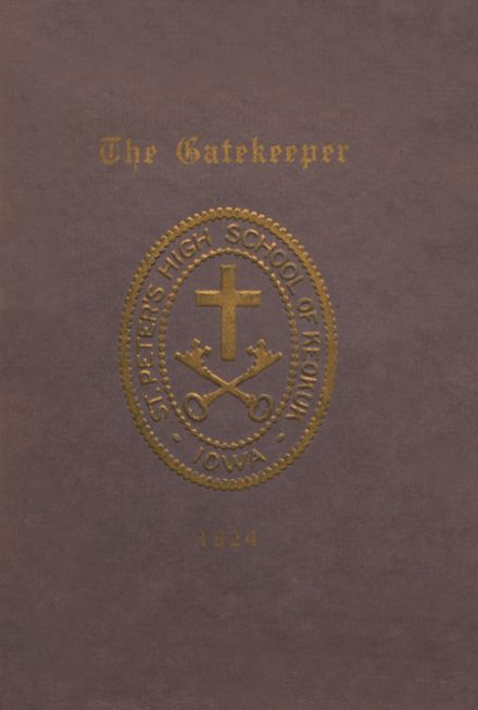 1924 St. Peter's High School Yearbook Cover