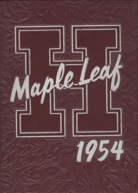 1954 Hornell High School Yearbook Cover