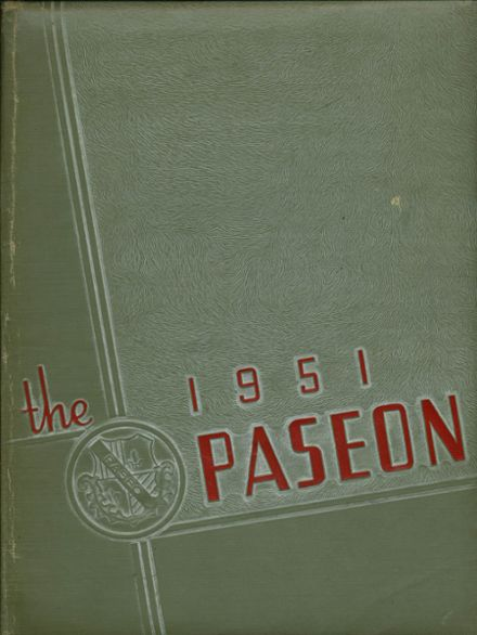 1951 Paseo High School Yearbook Cover