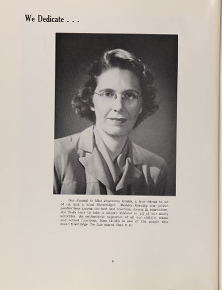1950 Shortridge High School Yearbook Page 8