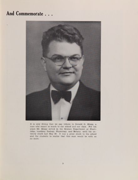 1950 Shortridge High School Yearbook Page 9