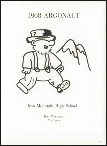 explore 1968 iron mountain high school yearbook iron mountain mi
