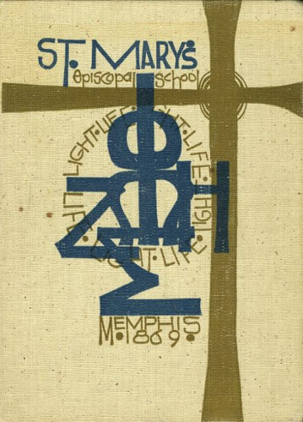 1972 St. Mary's Episcopal School Yearbook Cover