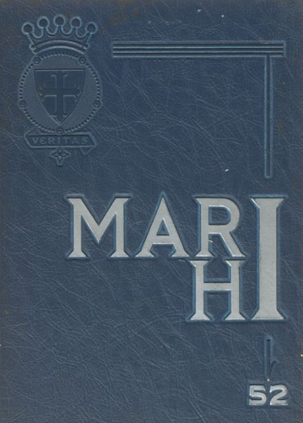 1952 St. Mary's High School Yearbook Cover