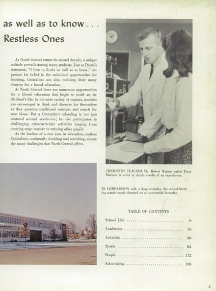 1967 North Central High School Yearbook Page 7