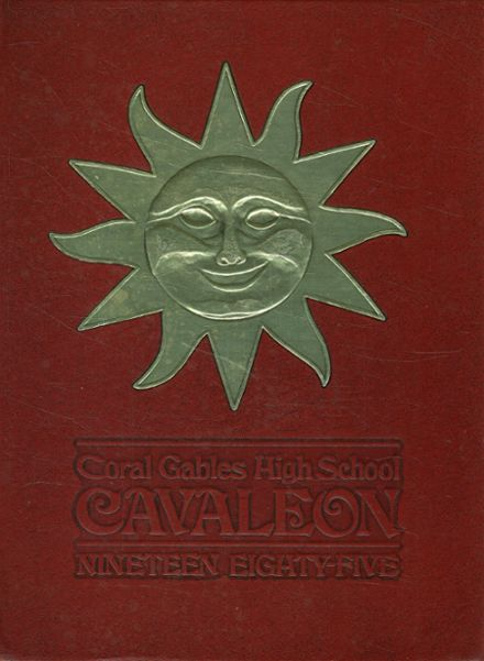 1985 Coral Gables High School Yearbook Cover