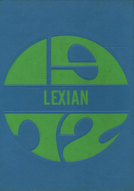 1972 Lexington High School Yearbook Cover