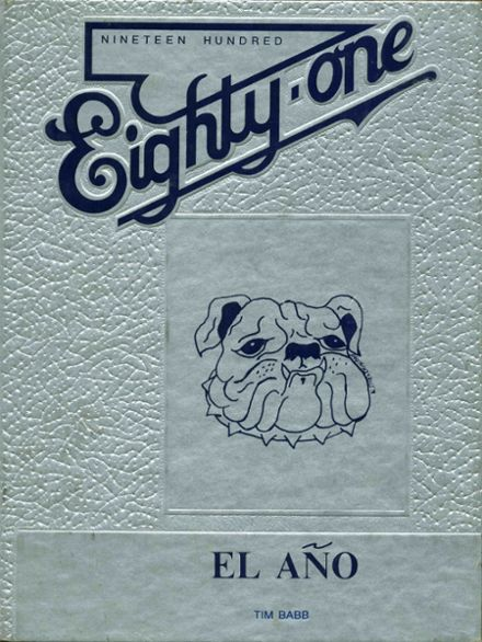 1981 Ramona High School Yearbook Cover