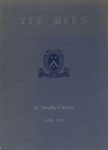 1952 St. Timothy's High School Yearbook Cover