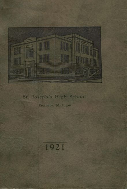 1921 St. Joseph's High School Yearbook Cover