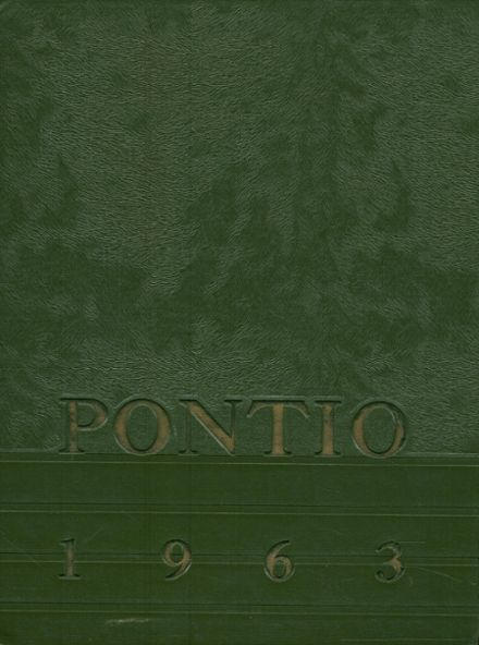 1963 Pontiac Township High School Yearbook Cover