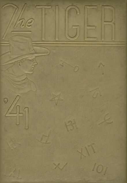 1941 Texas High School Yearbook Cover
