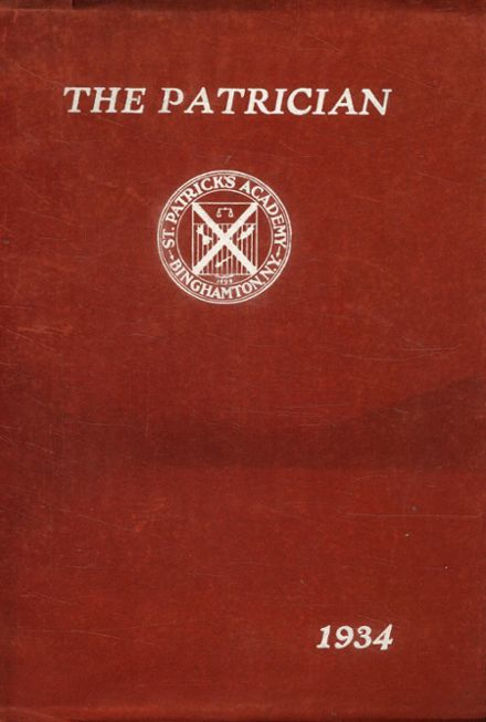 1934 St. Patrick's High School Yearbook Cover