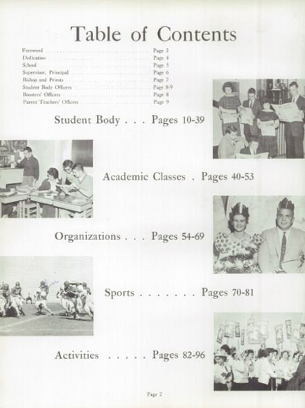 1961 St. Teresa's Academy Yearbook Page 6