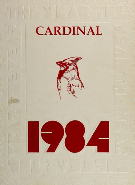 1984 Sharon High School Yearbook Cover