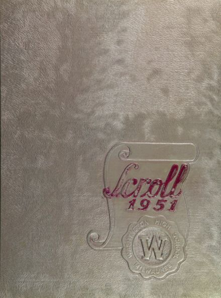 1951 Washington High School Yearbook Cover