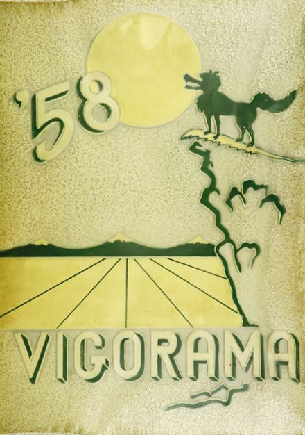 1958 Vigor High School Yearbook Cover