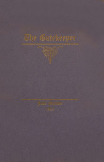 1923 St. Peter's High School Yearbook Cover