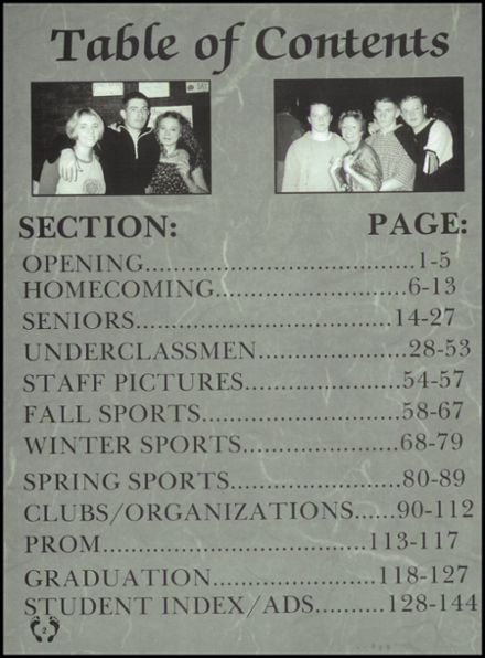 2001 National Trail High School Yearbook Page 6