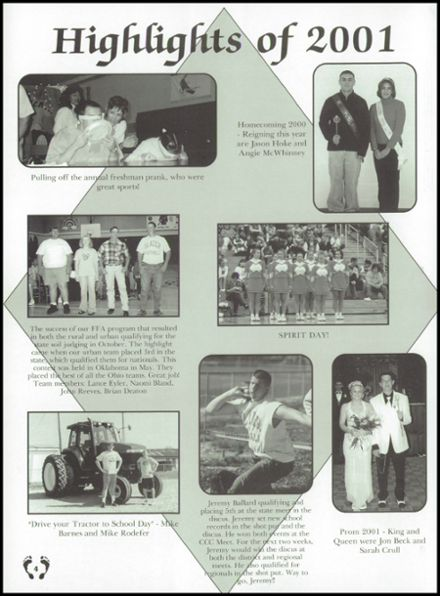 2001 National Trail High School Yearbook Page 8