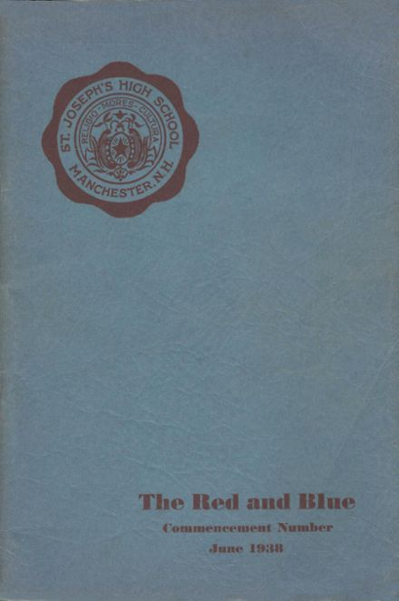 1938 St. Joseph's High School Yearbook Cover