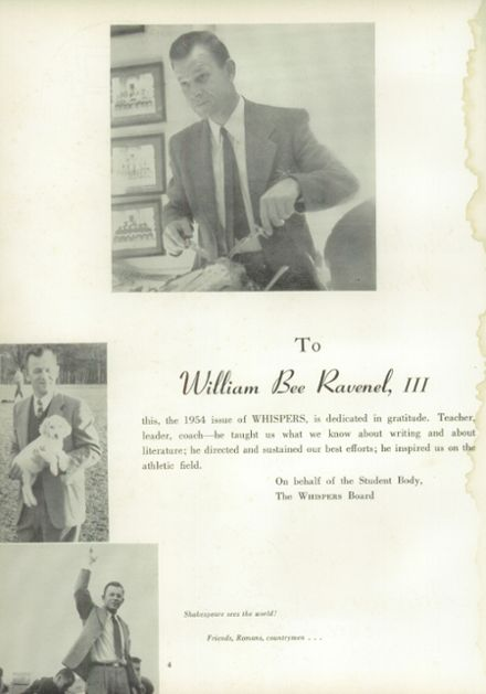 1954 Episcopal High School Yearbook Page 8