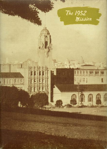 1952 Mission High School Yearbook Cover