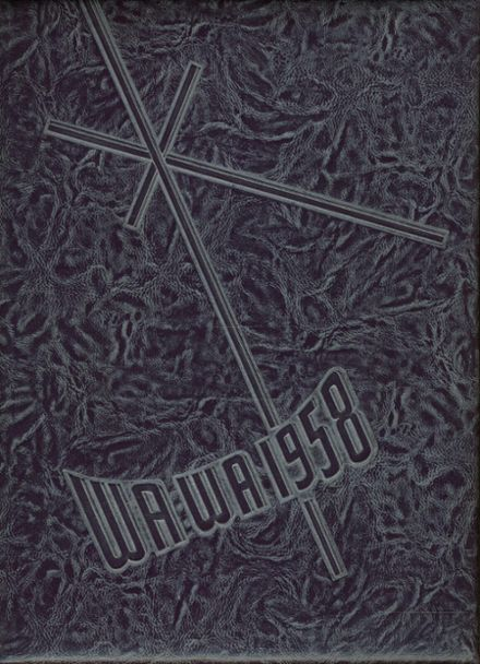 1958 Wenatchee High School Yearbook Cover