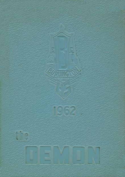 1962 Burlington High School Yearbook Cover