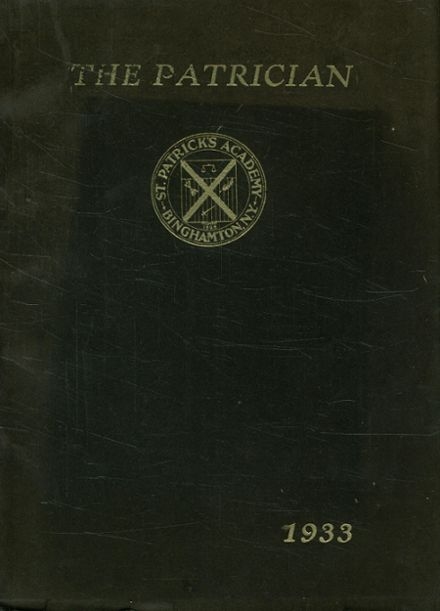 1933 St. Patrick's High School Yearbook Cover