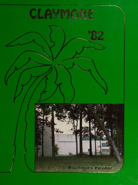 1982 McCullough High School Yearbook Cover