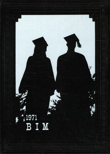 1971 Bement High School Yearbook Cover
