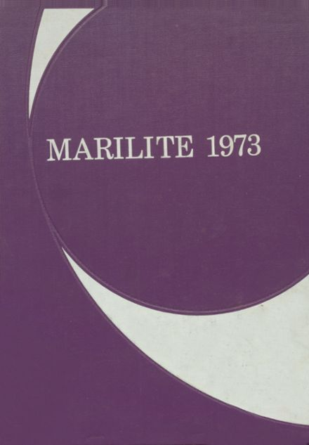 1973 St. Mary's Academy Yearbook Cover