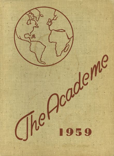 1959 Academy High School Yearbook Cover