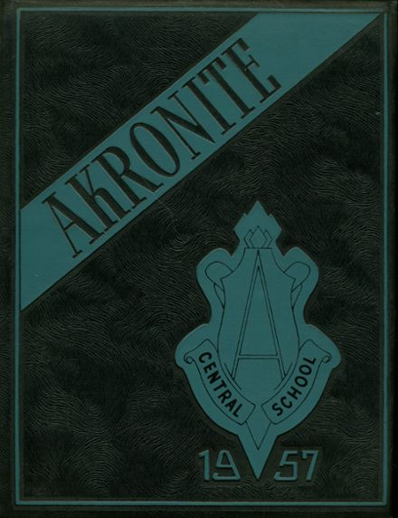 1957 Akron High School Yearbook Cover