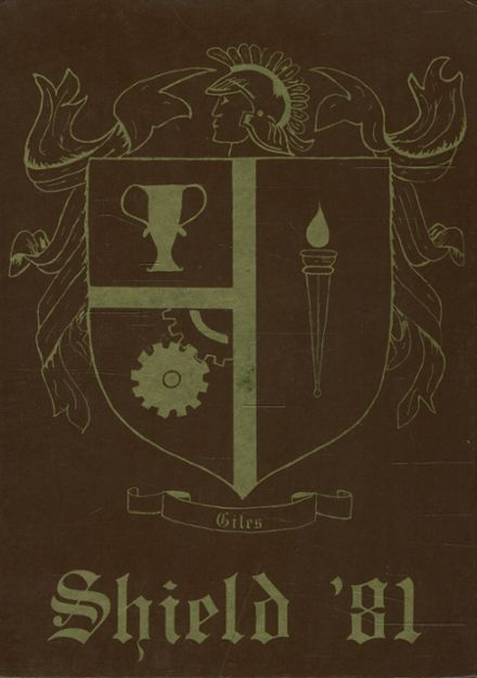 1981 Giles High School Yearbook Cover
