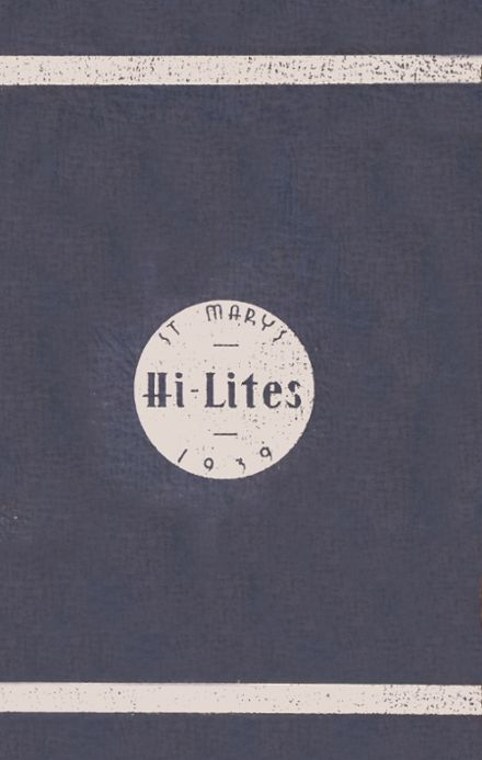 1939 St. Mary's High School Yearbook Cover