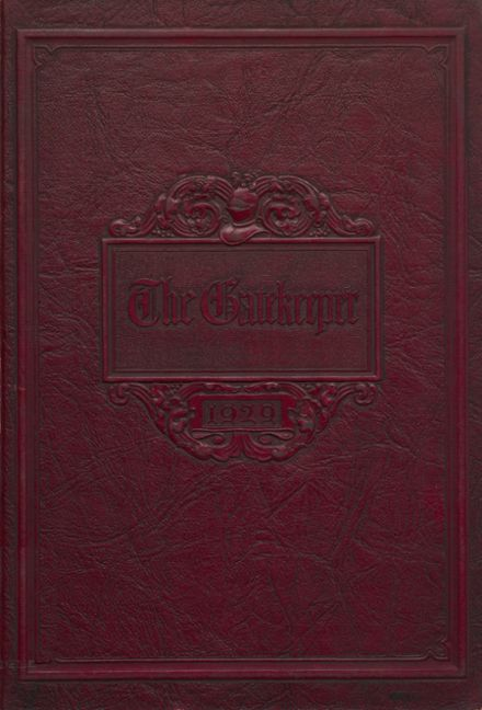 1929 St. Peter's High School Yearbook Cover
