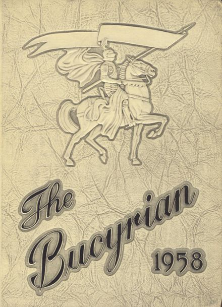 1958 Bucyrus High School Yearbook Cover