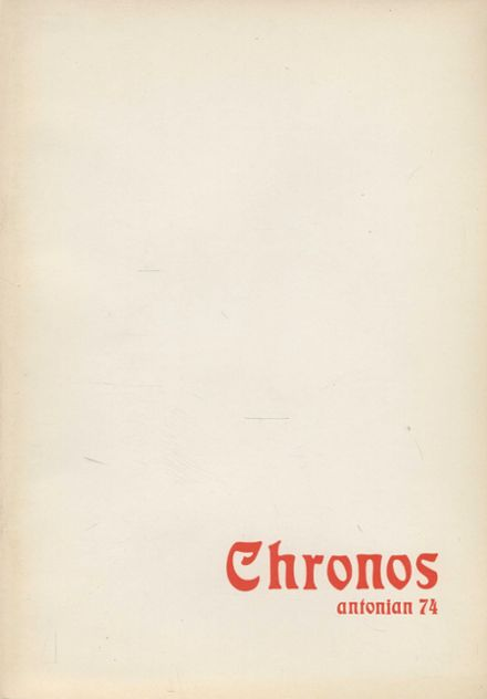 1974 St. Anthony's High School Yearbook Cover