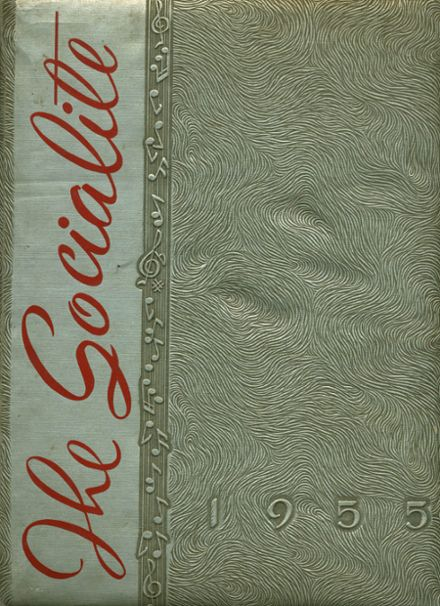 1955 Social Circle High School Yearbook Cover