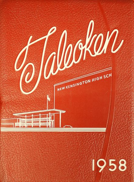 1958 New Kensington High School Yearbook Cover