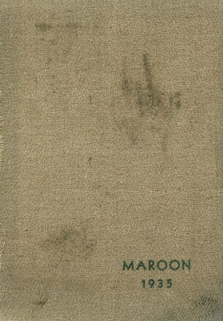 1935 Champaign High School Yearbook Cover