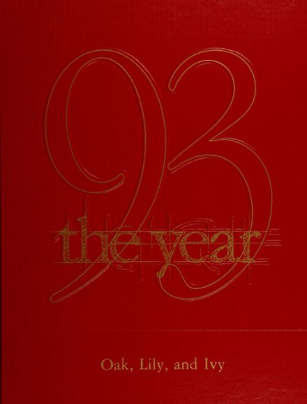 1993 Milford High School Yearbook Cover