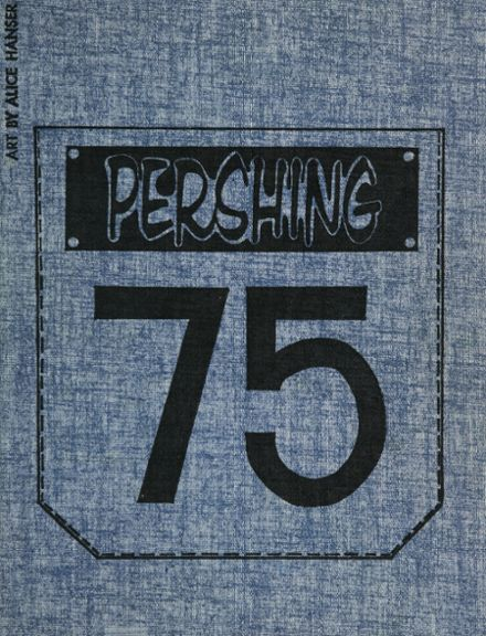 1975 Pershing High School Yearbook Cover