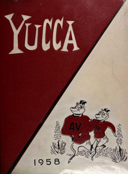 1958 Antelope Valley High School Yearbook Cover