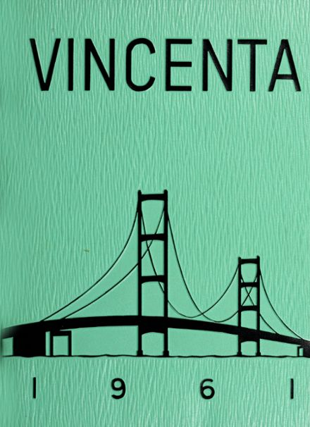 1961 St. Vincent's High School Yearbook Cover