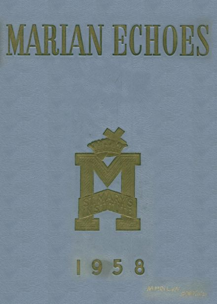 1958 St. Mary's Institute School Yearbook Cover