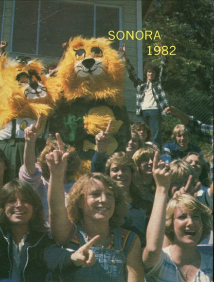 1982 Sonora Union High School Yearbook Cover